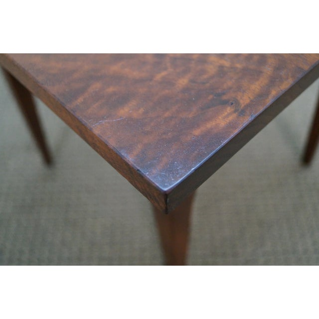 Hand-Crafted Solid Walnut Side Table - Image 10 of 10
