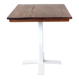 Custom Base and Antique Oak Top Bistro Table