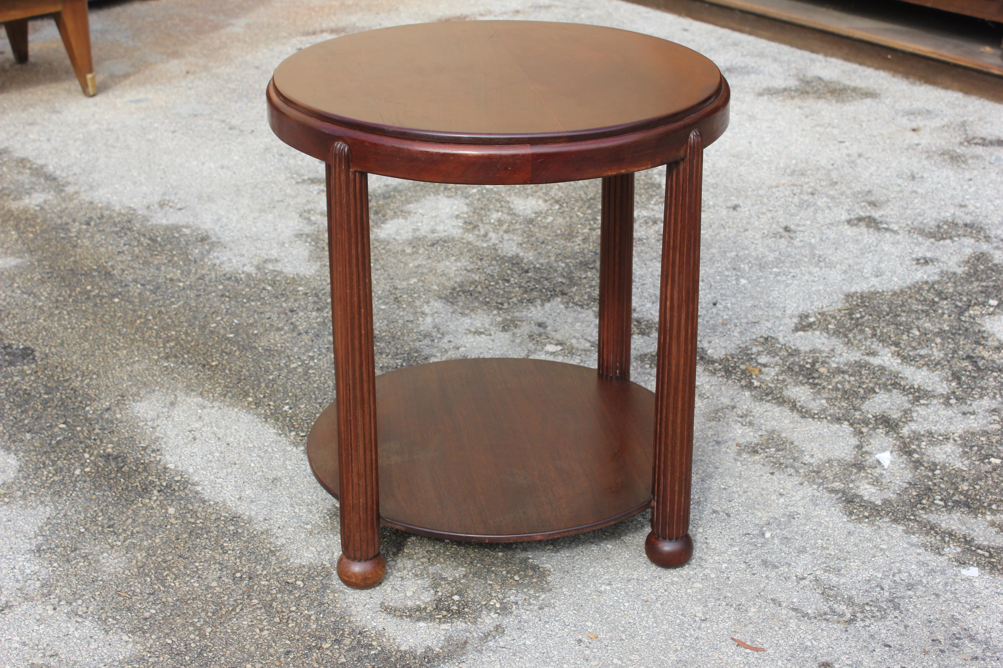 Beautiful French Art Deco Side Table / Gueridon, Circa 1930s   Image 7 Of 8