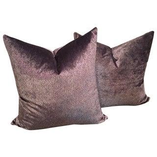 Romo Italian Velvet Pillows - A Pair