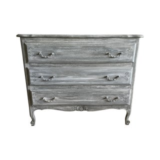 Antique Louis XV Style Refinished Gray Dresser