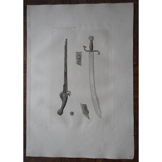 Image of Antique Sword & Pistolet Etching