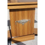 Image of French Art Deco Macassar Ebony Console Table