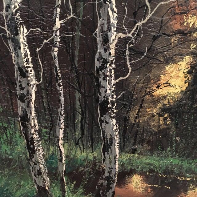 Vintage Framed Landscape Painting - Image 7 of 9