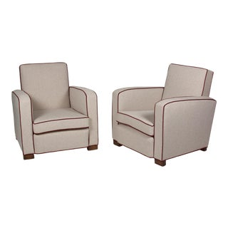 Pair of Club Chairs by Jacques Adnet, French, 1930s