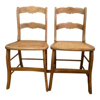 Antique Ladder Back Chairs - A Pair