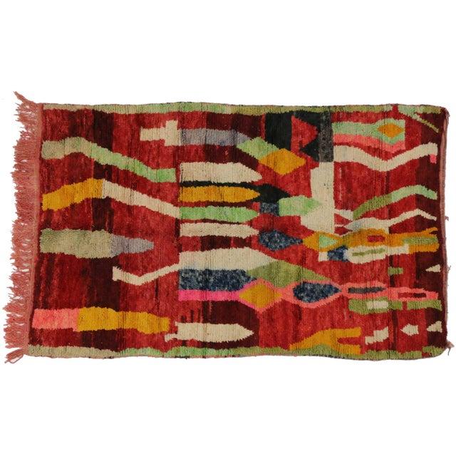 Maroc Tribal Rug: Vintage Berber Moroccan Tribal Rug - 5′1″ × 8′1″