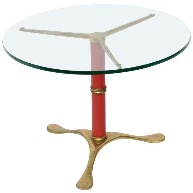 Image of Paolo Buffa Brass Side Table