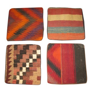 Vintage Afghan Kilim Pillow Cases - Set of 4