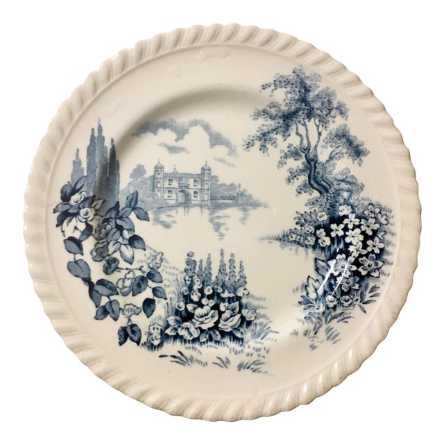 Image of English Style Toile Pattern Trinket Dish