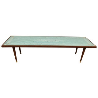Mid-Century Tile Top Coffee Table