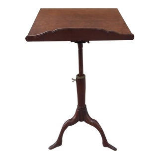 Georgian Mahogany Adjustable Music Stand with Carved Shoe Feet
