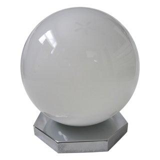 Vintage 1970s White Glass Gobe Ceiling Light