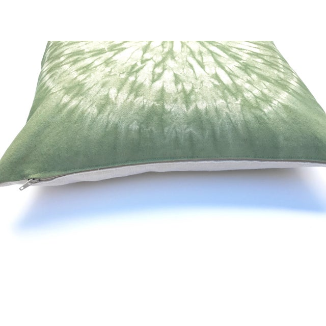 Circle Design Throw Pillows : Light Green Throw Pillow With Nui Shibori Circle Design Chairish