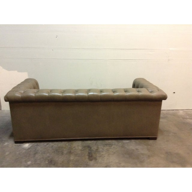 Image of Hickory Chair Kent Tufted Leather Sofa