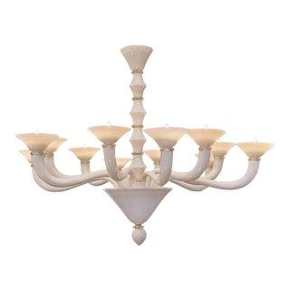 Murano Glass Ivory Chandelier
