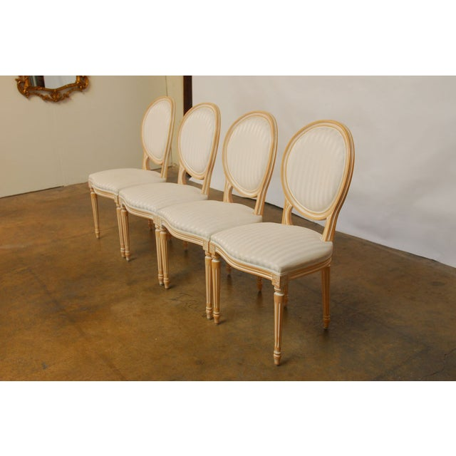 Louis XVI Dining Chairs - Set of 4 - Image 4 of 9
