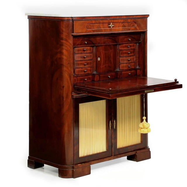 19th Century American Mahogany Secrétaire à Abattant - Image 3 of 10