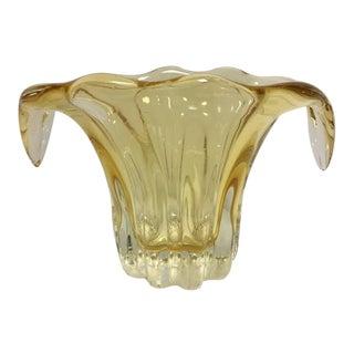 Murano Lemon Yellow Art Glass Bowl