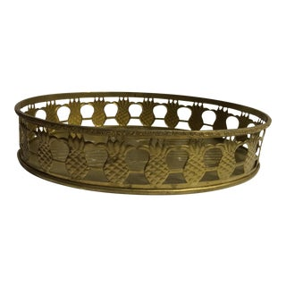 Pineapple Oval Brass Tray