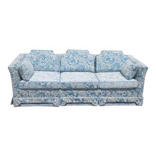 1970's Thick Cut Velvet Upholstered Sofa - Excellent Conditionn