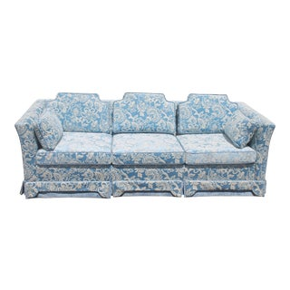 1970's Thick Cut Velvet Upholstered Sofa - Excelllent Conditionn