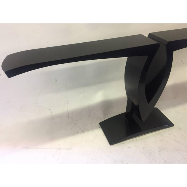 Image of Wooden Black Lacquer Console