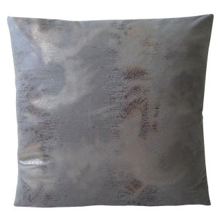 Gray Faux Elephant Pillow