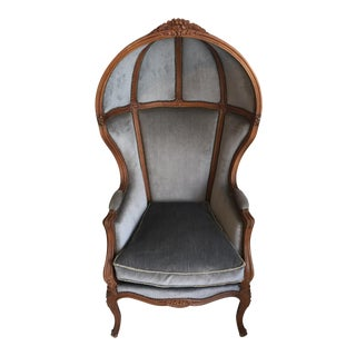 "Circa 1970 French Style ""Hood"" Chair"