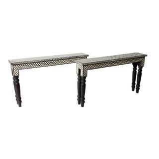 Bone Inlaid Console Table