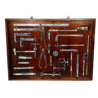 Handmade Engineering Drafting Tools Display