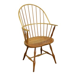 Thomas B Martin Custom Crafted Cherry Windsor Arm Chair