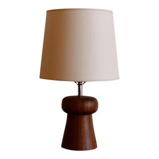 Turned Teak Table Lamp