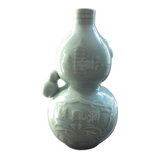 Sage Green Chinoiserie Vase