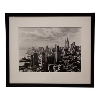 "New York Times Archives Framed Fine Art Photography, ""From River House, Cloudy Study, Noon"""