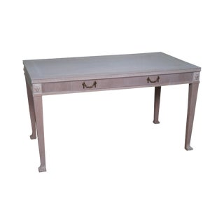 Custom White Wash Regency Style Writing Desk