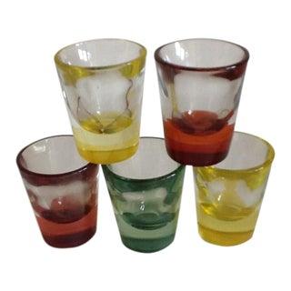 Colorful Shot Glasses- Set of 5