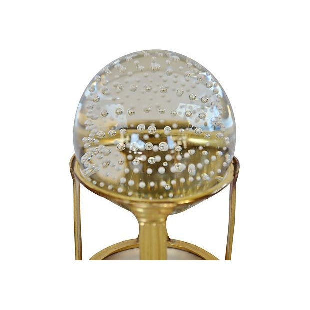 Glass Sphere on Brass Stand - Image 2 of 2