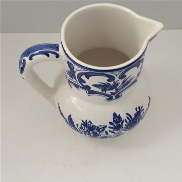 Tiffany & Co Delft Blue & White Pitcher - Image 5 of 6
