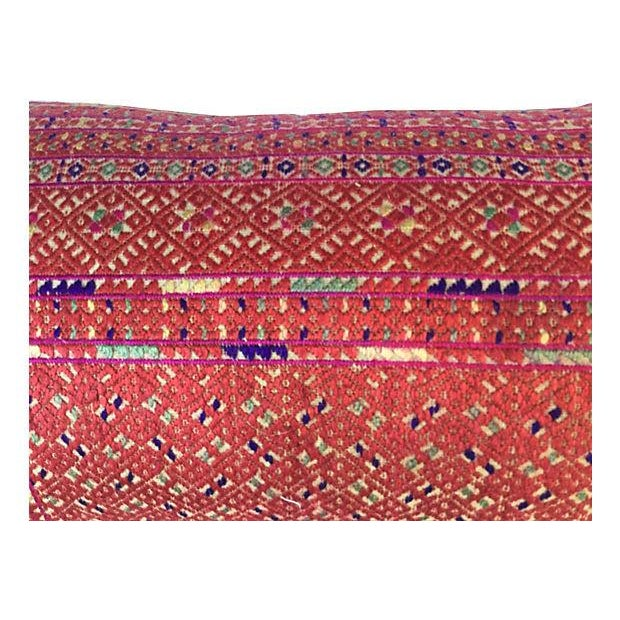 Asian Ceremonial Quilt Pillow - Image 3 of 4