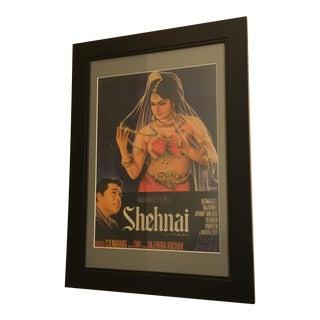 Vintage Mid-Century Bollywood Movie Poster