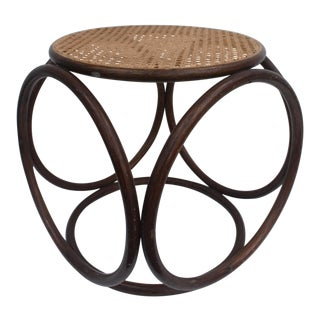 Thonet Bentwood and Cane Stool Ottoman