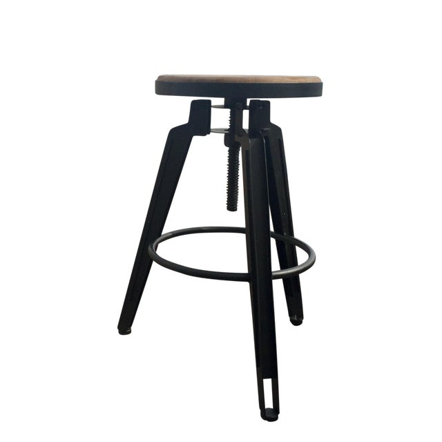 Industrial Adjustable Vintage Stool - Image 1 of 11