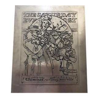 Vintage Saturday Evening Post Sterling Silver Christmas Card