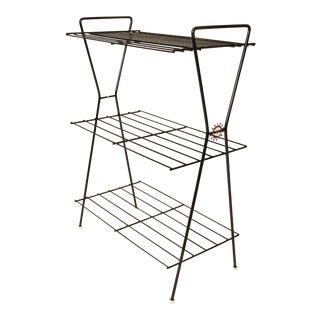 Mid-Century Modern Black Wire Metal Plant Stand