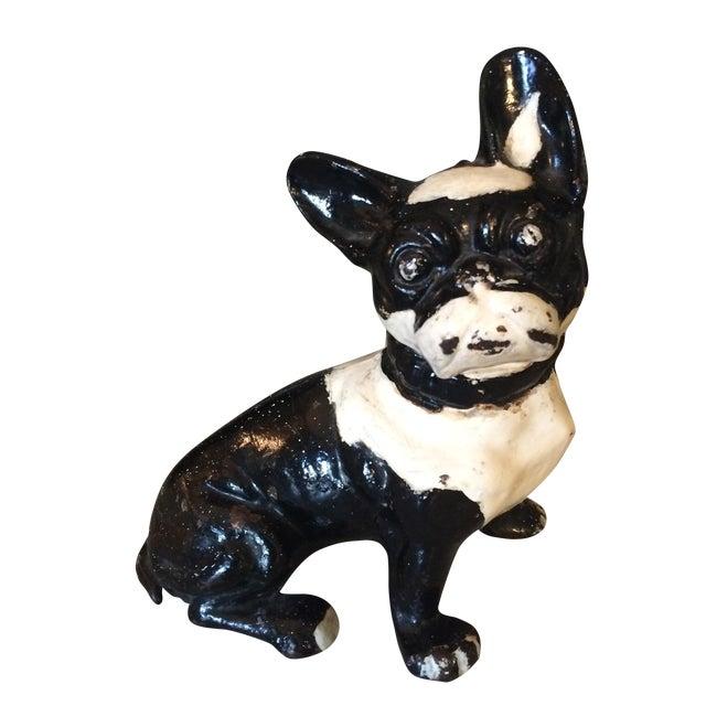Vintage Cast Iron Boston Terrier - Image 1 of 5
