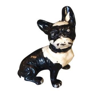 Vintage Cast Iron Boston Terrier