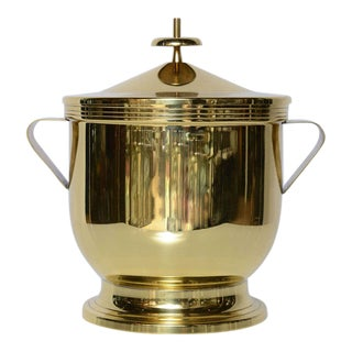 Tommi Parzinger Polished Brass Ice Bucket