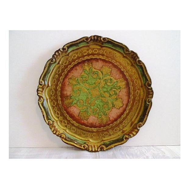 Italian Rose & Green Wood Letter Tray - Image 2 of 6
