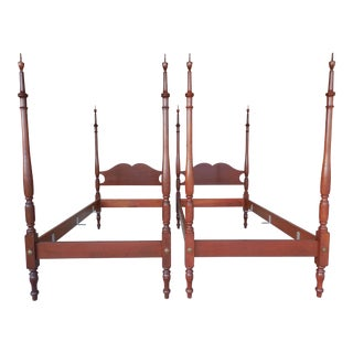 Chippendale Twin Poster Beds - A Pair